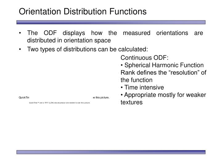 Orientation Distribution Functions