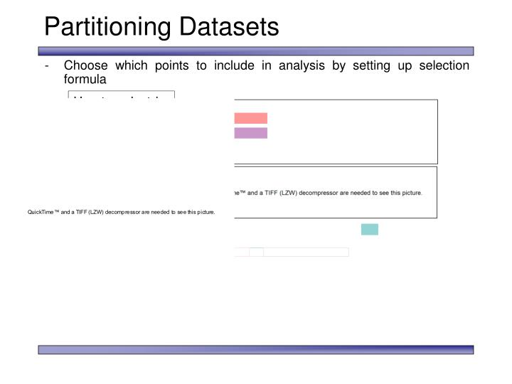 Partitioning Datasets