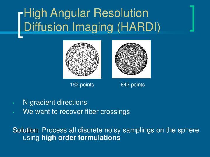 High Angular Resolution Diffusion Imaging (HARDI)