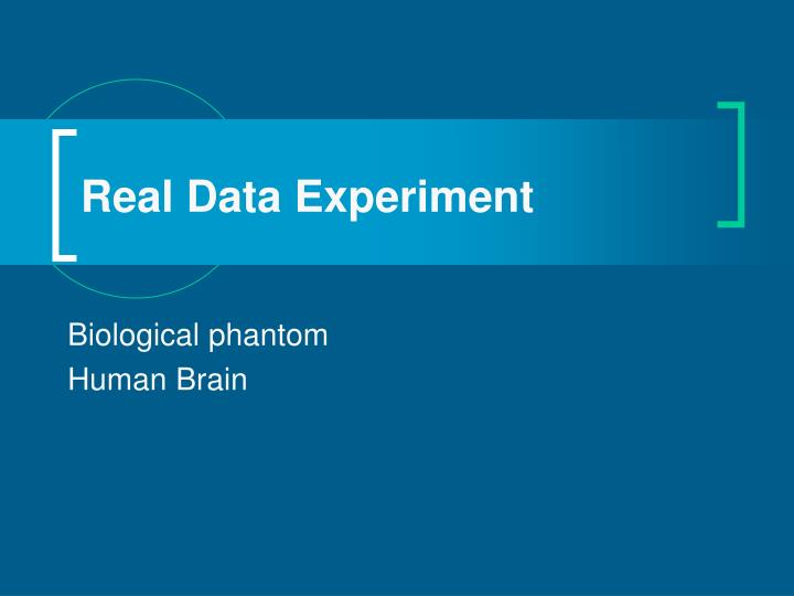 Real Data Experiment