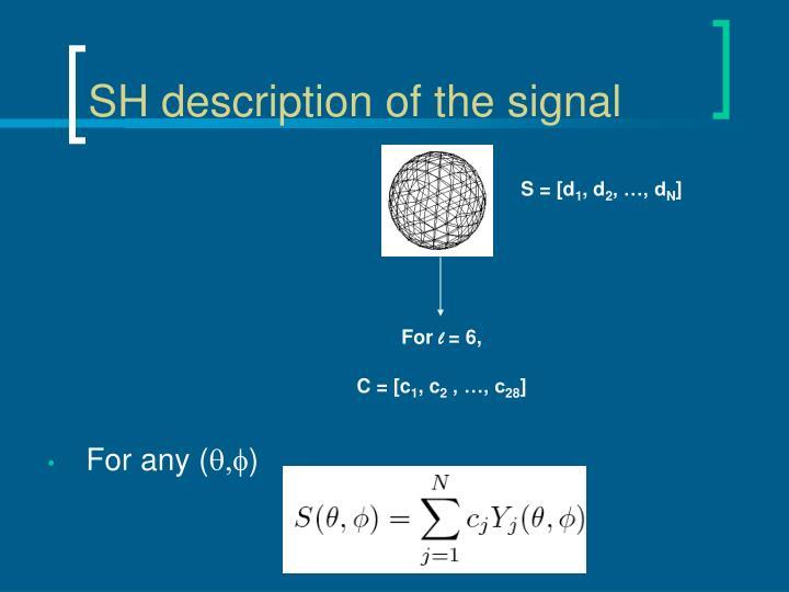 SH description of the signal