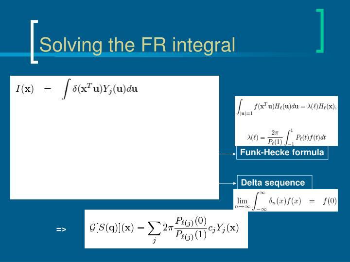 Funk-Hecke formula