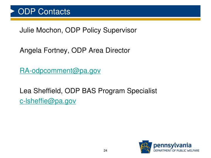 ODP Contacts