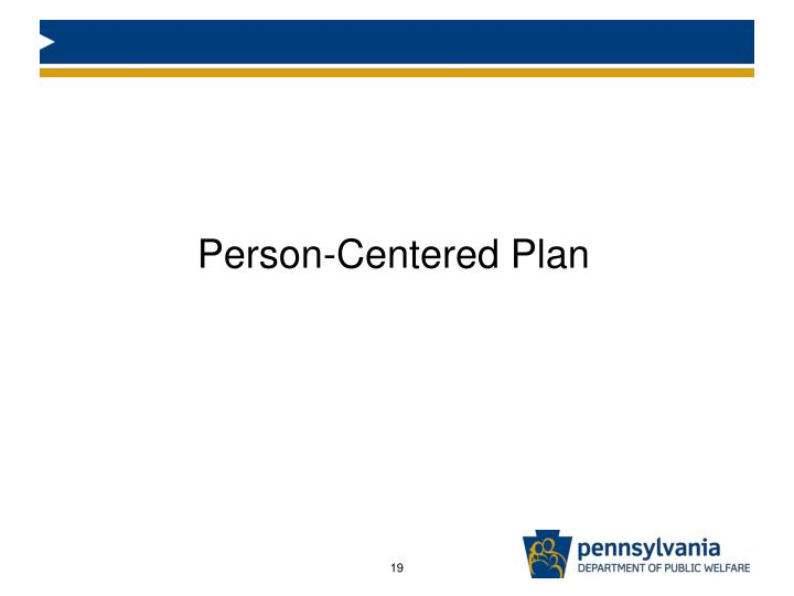 Person-Centered Plan