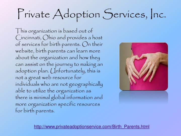 Private Adoption Services, Inc.