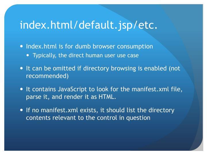 index.html/default.jsp/etc