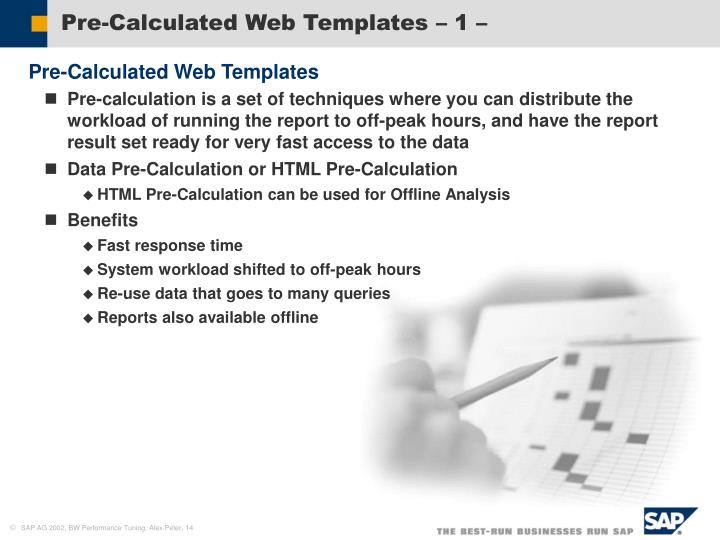 Pre-Calculated Web Templates – 1 –