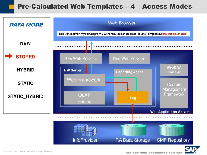 Pre-Calculated Web Templates – 4 – Access Modes