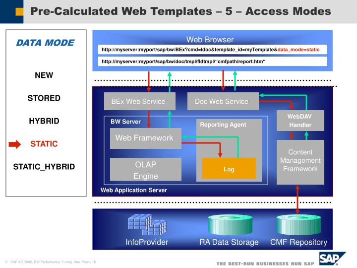 Pre-Calculated Web Templates – 5 – Access Modes