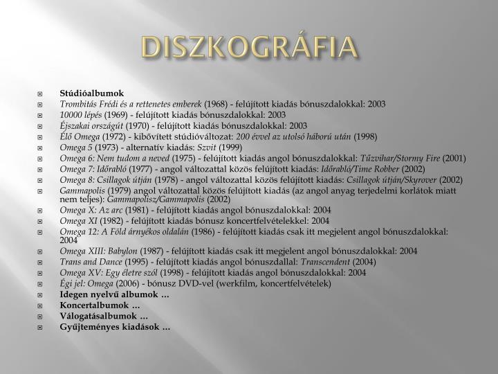 Diszkográfia