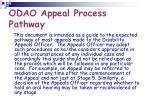 odao appeal process pathway