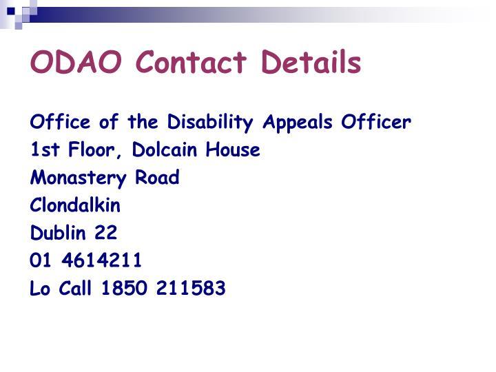 ODAO Contact Details