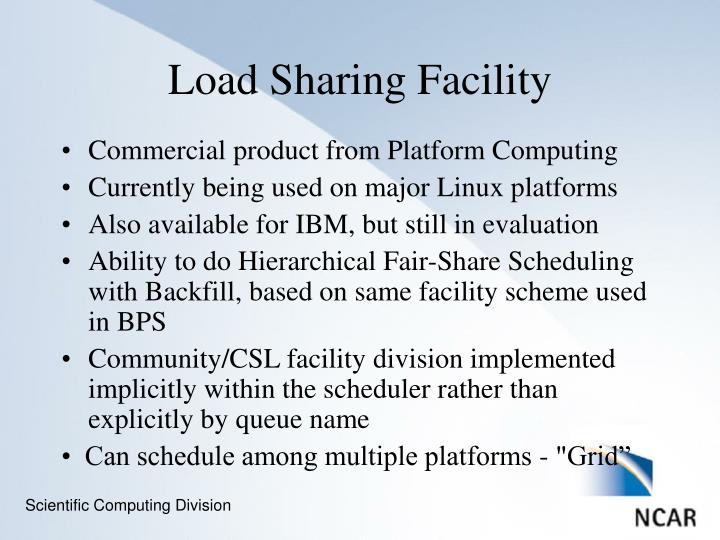 Commercial product from Platform Computing