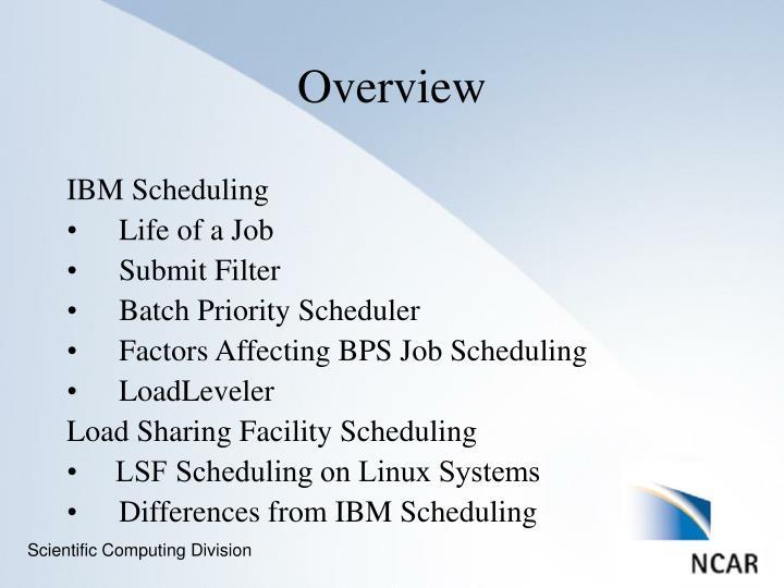 IBM Scheduling