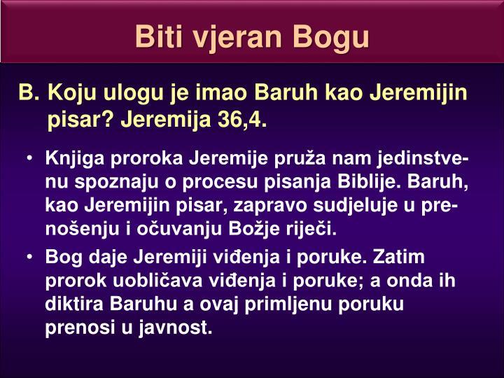 Biti vjeran Bogu