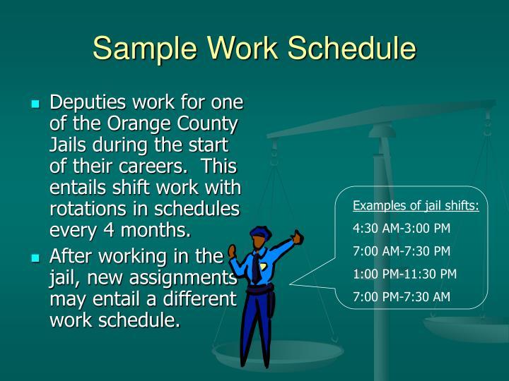 Sample Work Schedule