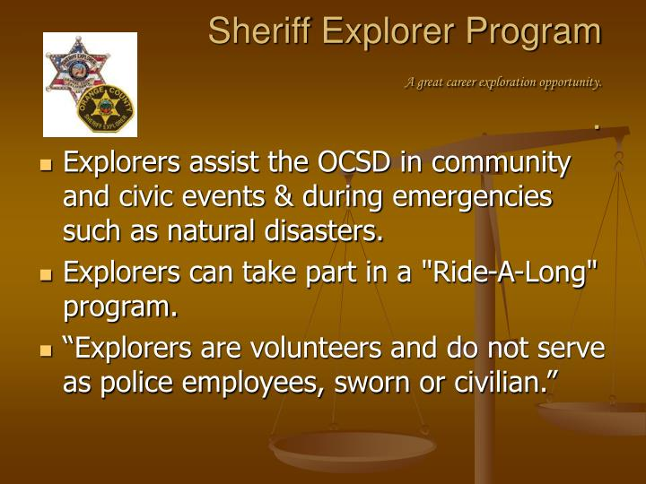 Sheriff Explorer Program
