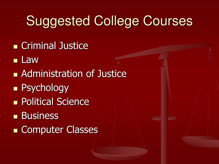 Suggested College Courses