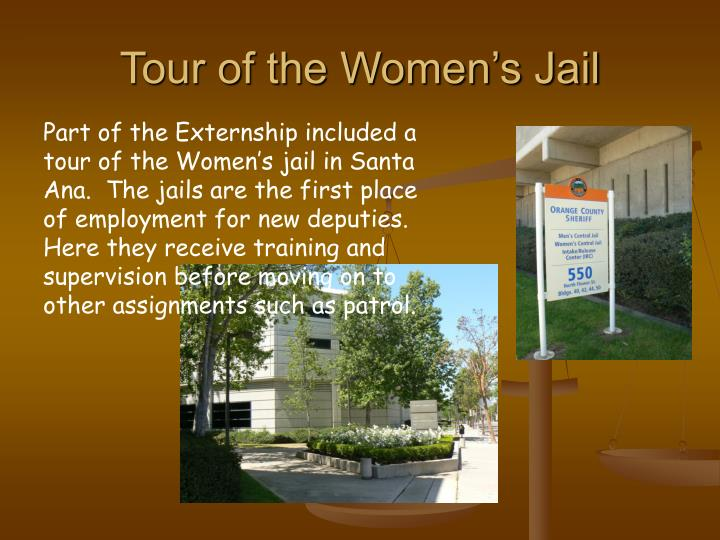 Tour of the Women's Jail