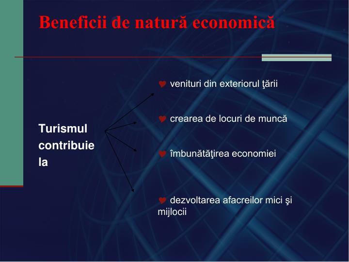 Beneficii de natură economică