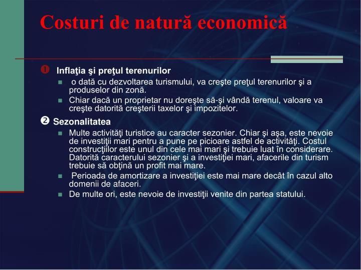 Costuri de natură economică