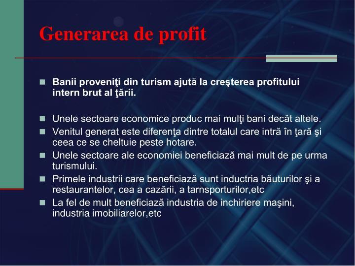 Generarea de profit