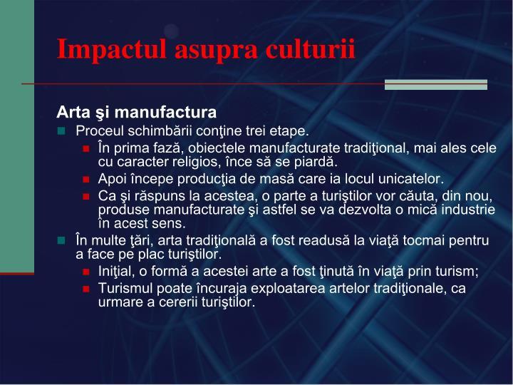 Impactul asupra culturii