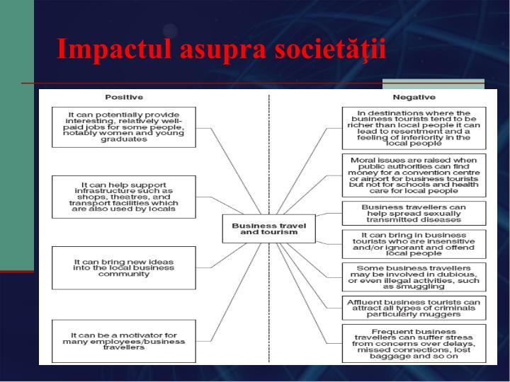 Impactul asupra societăţii