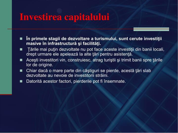 Investirea capitalului