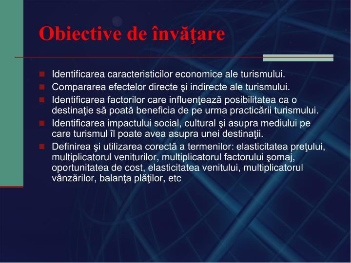 Obiective de învăţare