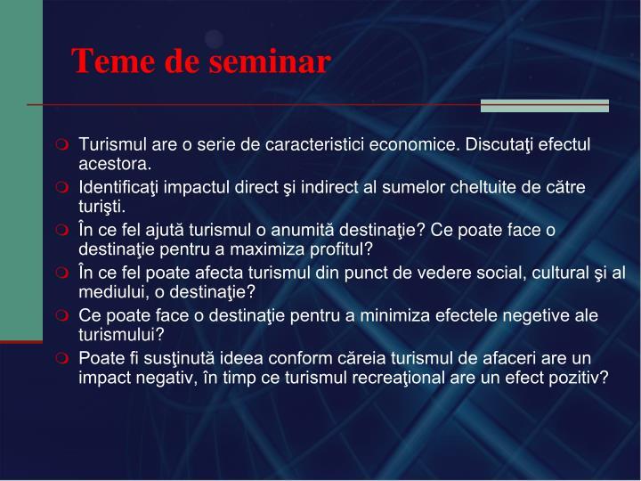 Teme de seminar