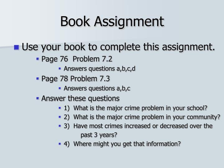 Book Assignment