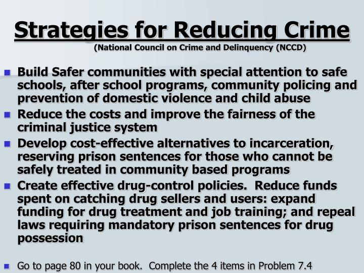 Strategies for Reducing Crime