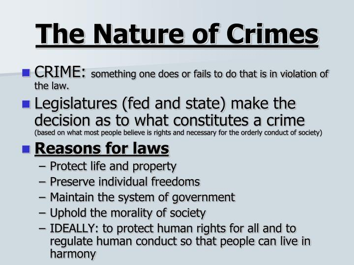 The Nature of Crimes