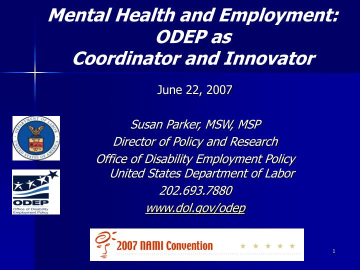 Mental Health and Employment:
