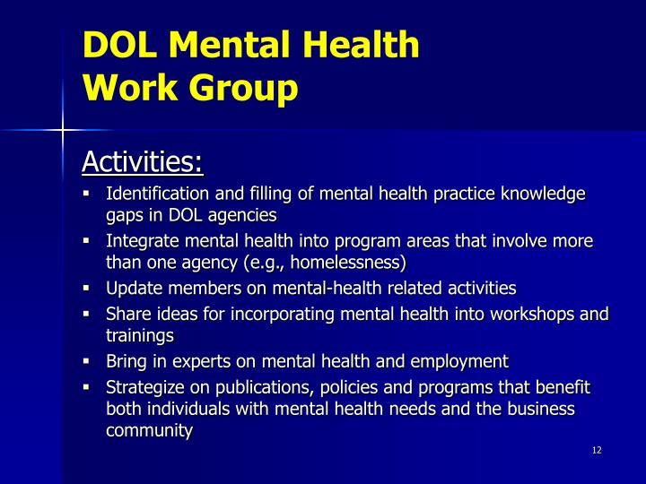 DOL Mental Health