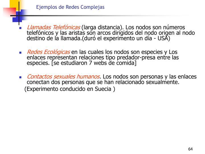 Ejemplos de Redes Complejas