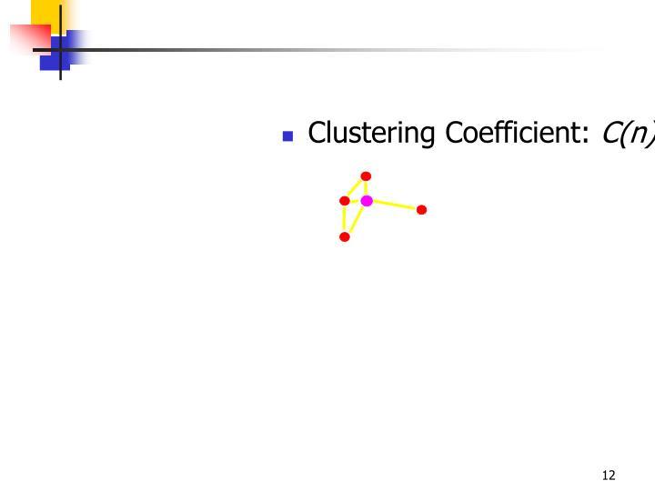 Clustering Coefficient:
