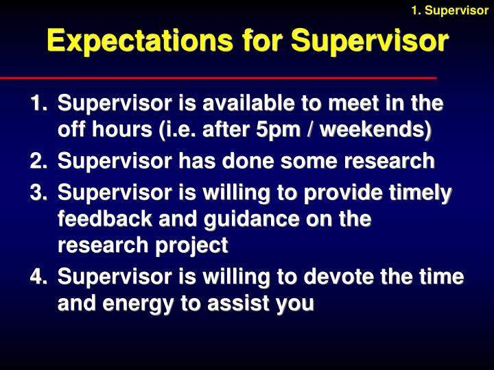 1. Supervisor