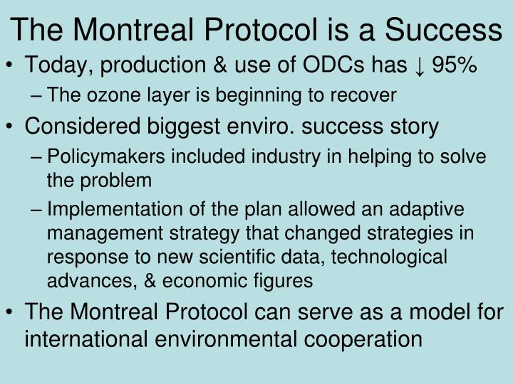 The Montreal Protocol is a Success