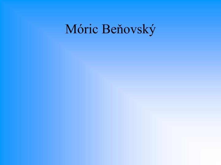 Móric Beňovský