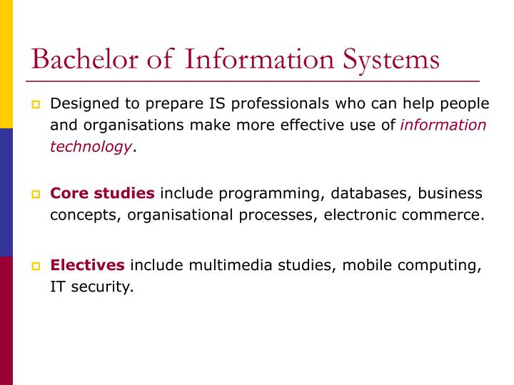 Bachelor of Information Systems