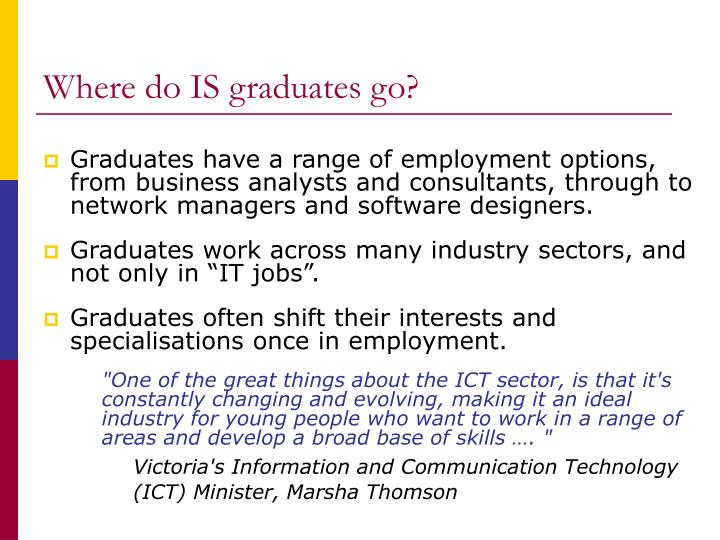 Where do IS graduates go?