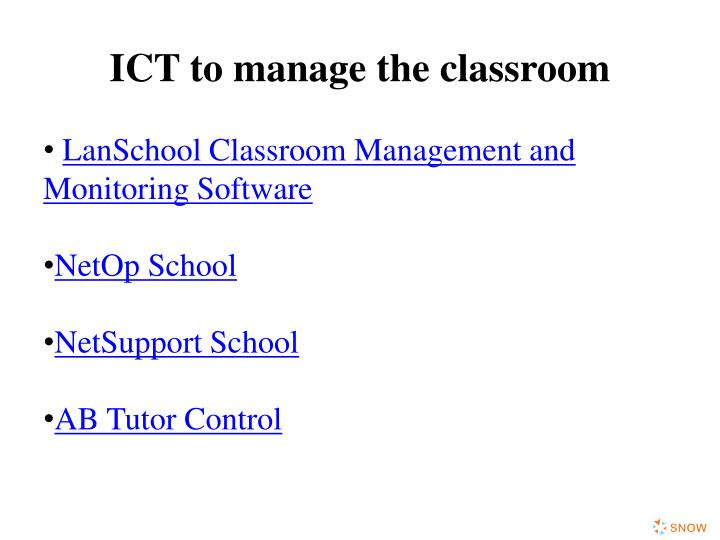 ICT to manage the classroom