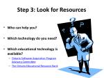 step 3 look for resources