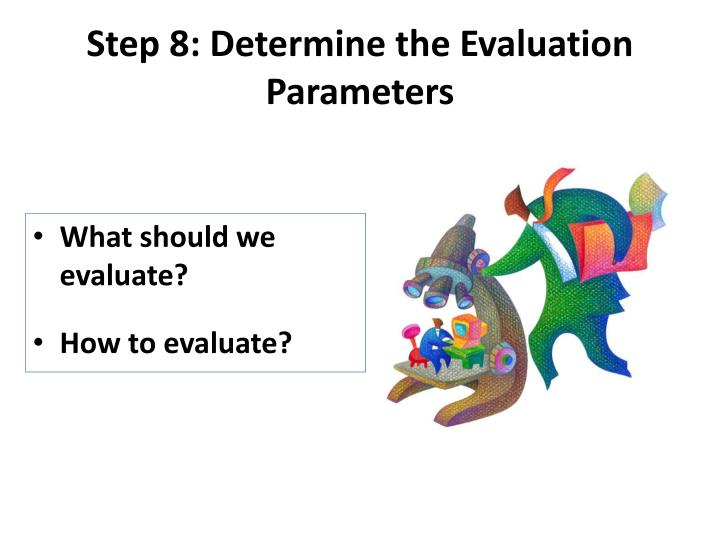 Step 8: Determine the Evaluation