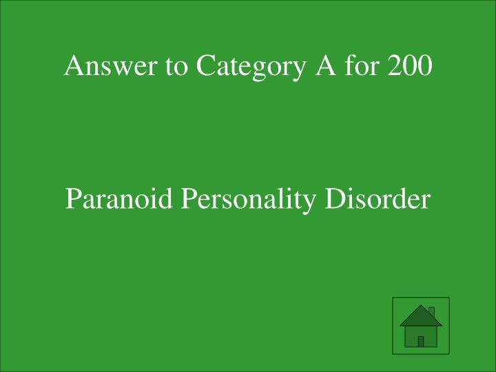 Answer to Category A for 200