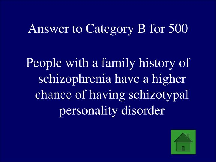 Answer to Category B for 500