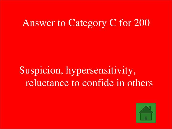 Answer to Category C for 200