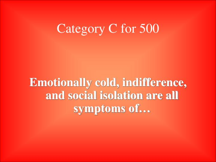 Category C for 500
